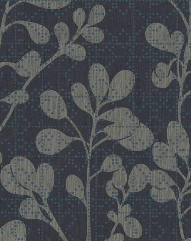 "54"" Stacy Garcia Sprig Wallpaper - Blue"