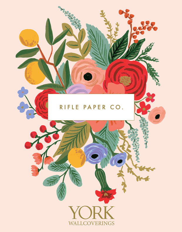 Rifle Paper Co. Peonies Wallpaper - Black & Gold