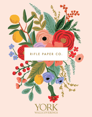 Rifle Paper Co. Peonies Wallpaper - Periwinkle & Sage