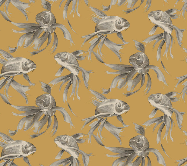 Candice Olson Tranquil Koi Wallpaper - Gold