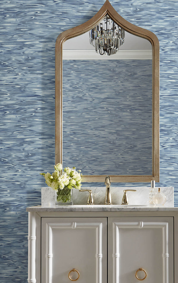 Candice Olson Tranquil Still Waters Wallpaper - Blue