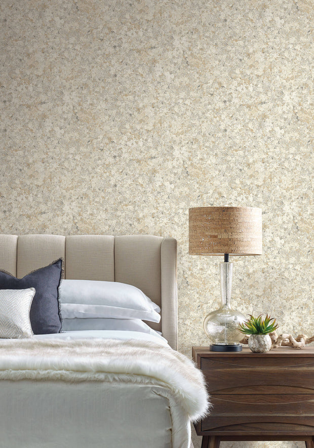 Candice Olson Tranquil Zen Crystals Wallpaper - Gold