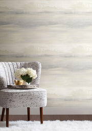 Candice Olson Tranquil Soothing Mists Scenic Wallpaper - White