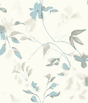 Candice Olson Tranquil Linden Flower Wallpaper - Blue