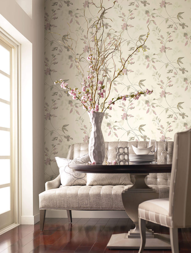 Candice Olson Tranquil Linden Flower Wallpaper - Purple