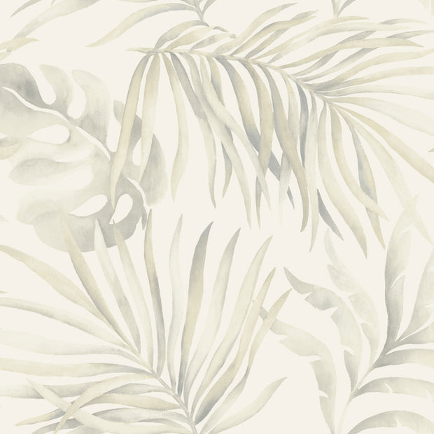 Candice Olson Tranquil Paradise Palm Wallpaper - Silver