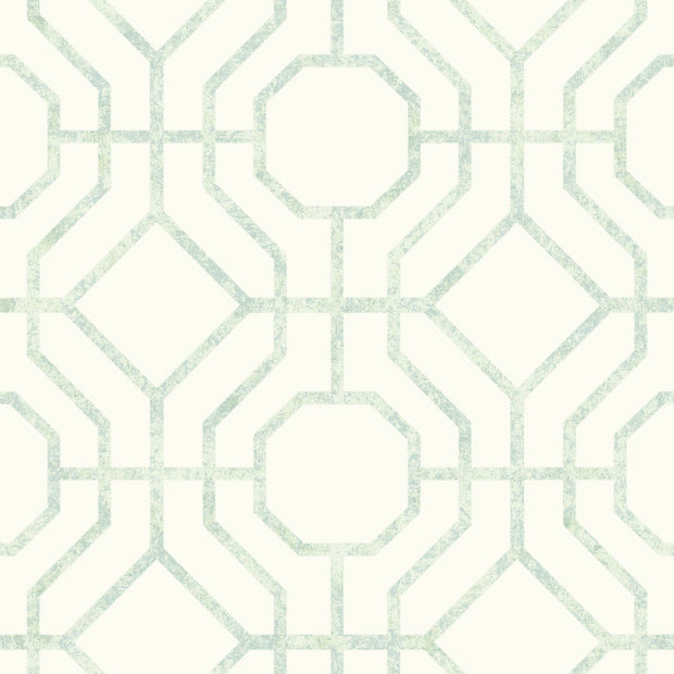 Candice Olson Tranquil Lanai Trellis Wallpaper - Light Green