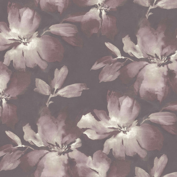 Candice Olson Tranquil Midnight Blooms Wallpaper - Purple