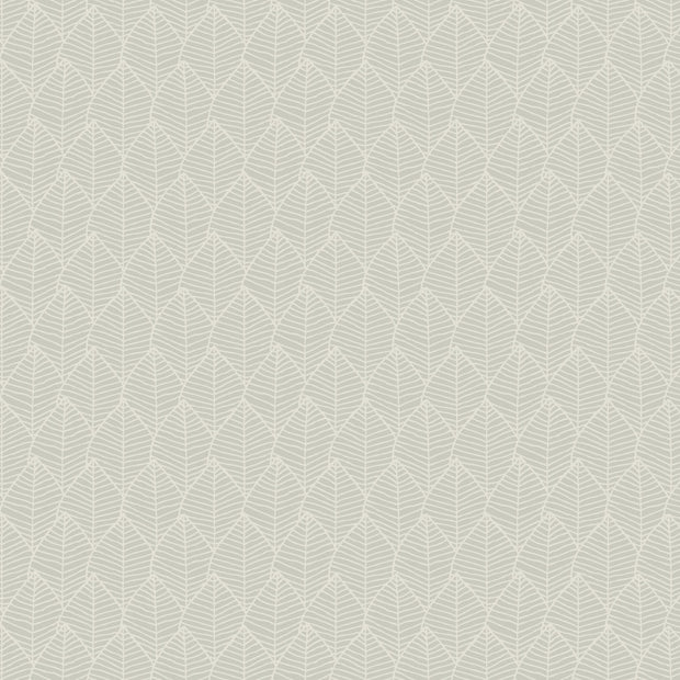 Candice Olson Tranquil Meditation Leaf Wallpaper - Warm Grey