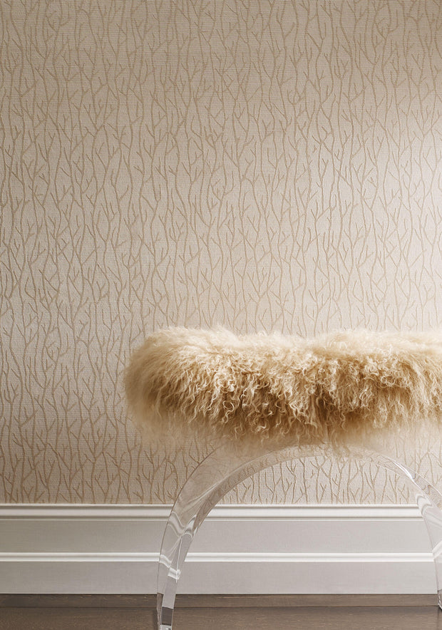 Candice Olson Tranquil Sea Branch Wallpaper - Cream Pearl