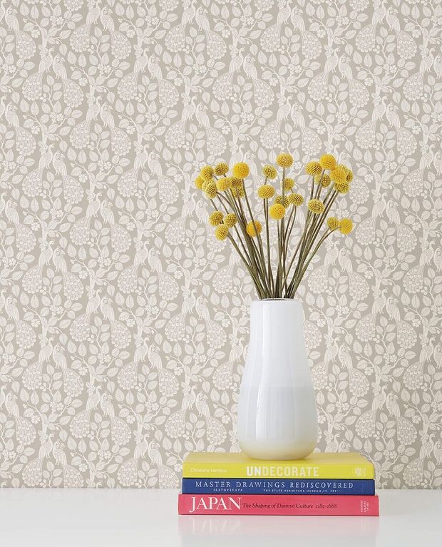 Plumage Wallpaper - Taupe