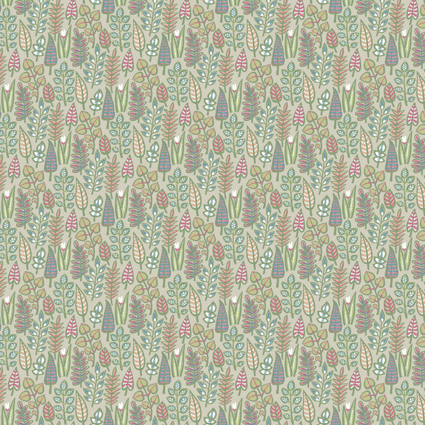 Leaf Life Wallpaper - Taupe