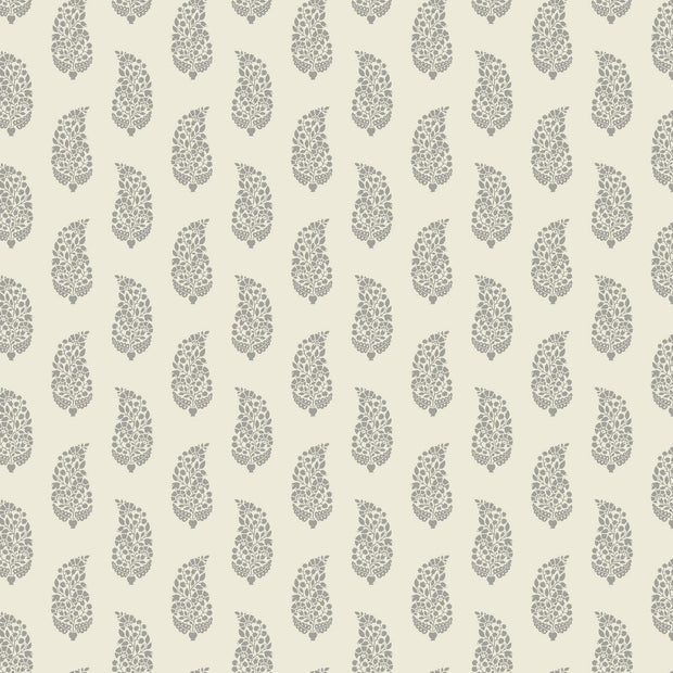 Boteh Paisley Wallpaper - Gray/Beige