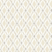Dyed Ogee Wallpaper - Beige