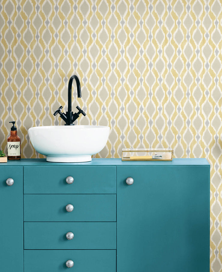 Dyed Ogee Wallpaper - Yellow