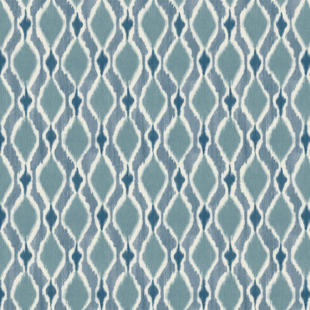 Dyed Ogee Wallpaper - Blue