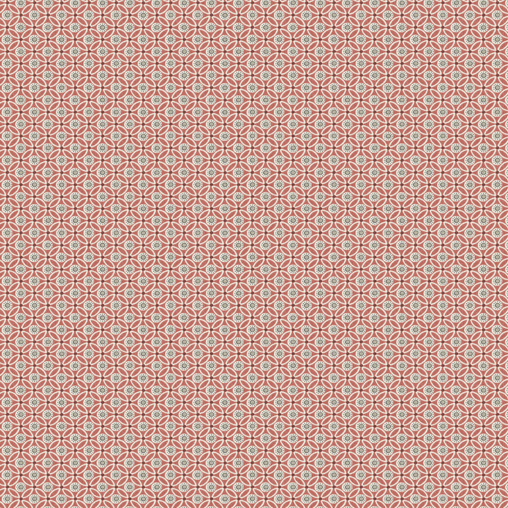 Circle Mosaic Wallpaper - Red
