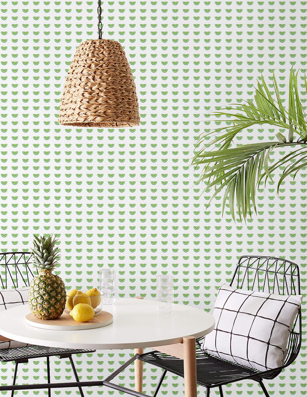 Citrus Party Wallpaper - Green