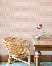 Wicker Weave Wallpaper - Pink