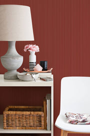 SR1563 Cascade Stria Wallpaper Red