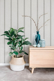 SR1586 French Linen Stripe Wallpaper Charcoal