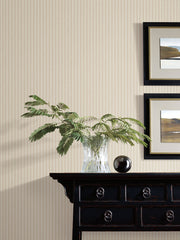 SR1590 New Ticking Stripe Wallpaper Beige