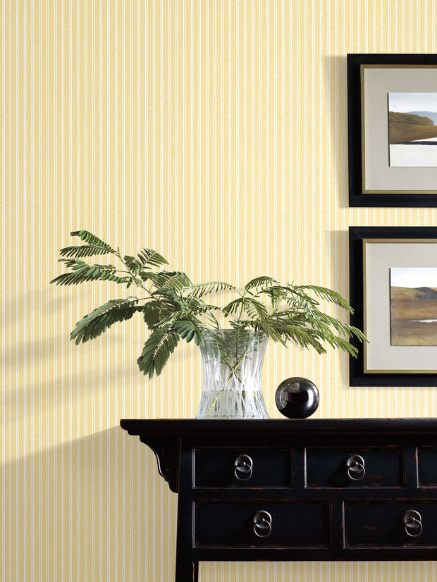 SR1594 Stripes Resource Library New Ticking Stripe Wallpaper Yellow