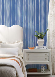 SR1609 Liquid Lineation Wallpaper Cobalt