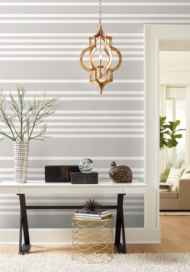 SR1614 Stripes Resource Library Scholarship Stripe Wallpaper Gray