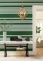 SR1618 Stripes Resource Library Scholarship Stripe Wallpaper Green