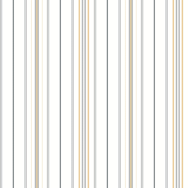 SR1622 Stripes Resource Library Wide Pinstripe Wallpaper Gray Yellow