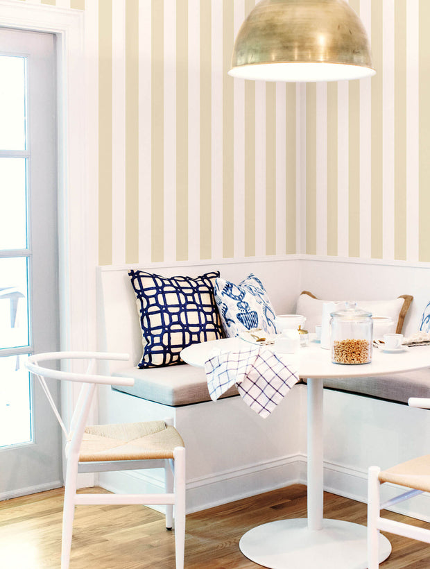ST5693 3 inch Stripe Wallpaper Neutral White