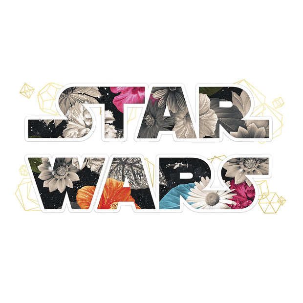 Star Wars Floral Logo Peel and Stick Wall Decals