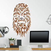 Star Wars Typographic Chewbacca Giant Wall Decals