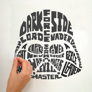 Star Wars Typographic Darth Vader Giant Wall Decal