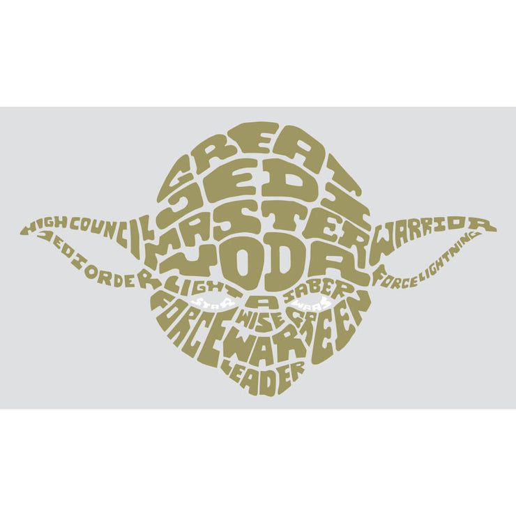 Star Wars Typographic Yoda Green Wall Decal