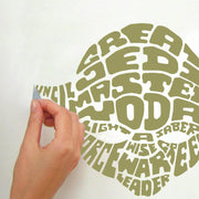 Star Wars Typographic Yoda Giant Wall Sticker
