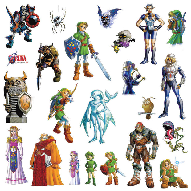 The Legend of Zelda: Ocarina of Time Peel and Stick Wall Decals