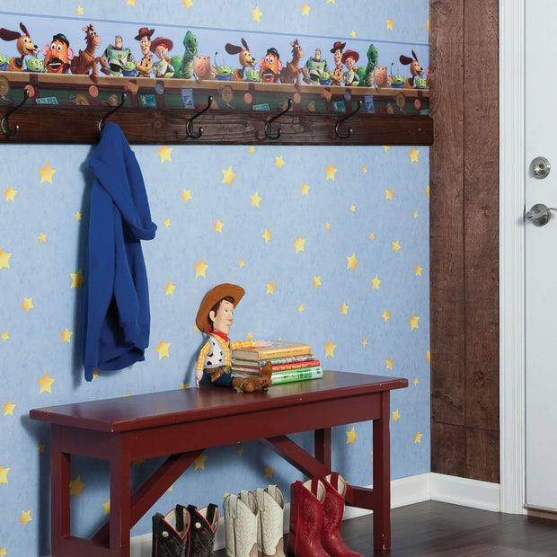 Disney Kids Toy Story Star Blue Wallpaper