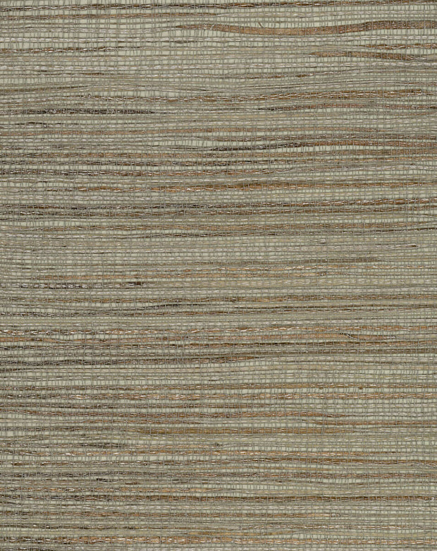 Grasscloth Resource Library Inked Grass Wallpaper - Blue/Green
