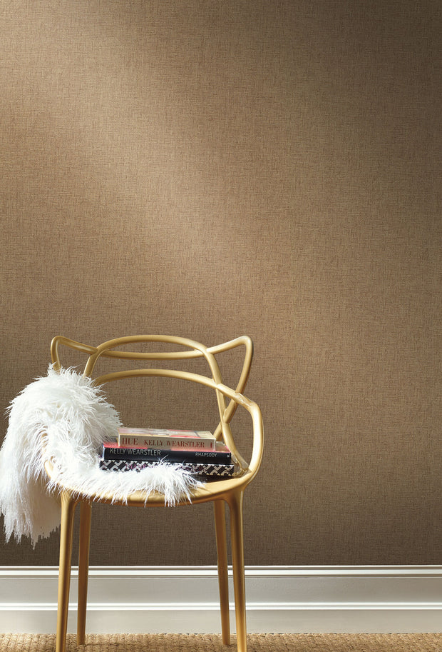 Grasscloth Resource Library Interlocking Weave Wallpaper - Brown
