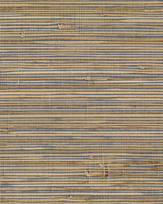 Grasscloth Resource Library Knotted Grass Wallpaper - Blue & Brown