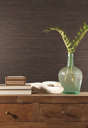 Grasscloth Resource Library Knotted Grass Wallpaper - Brown