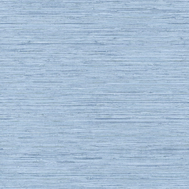 Horizontal Grasscloth Wallpaper - Denim Blue