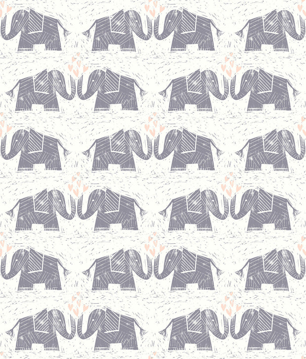 Elephants Love Wallpaper - Purple
