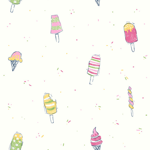 Ice Cream Wallpaper - Pink, Yellow