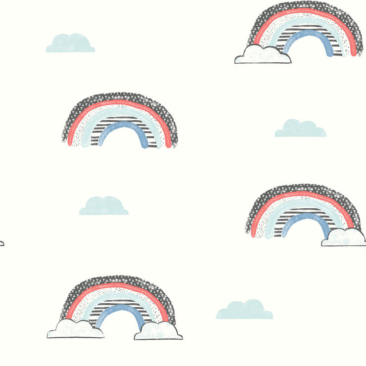Chasing Rainbows Wallpaper - Blue, Red