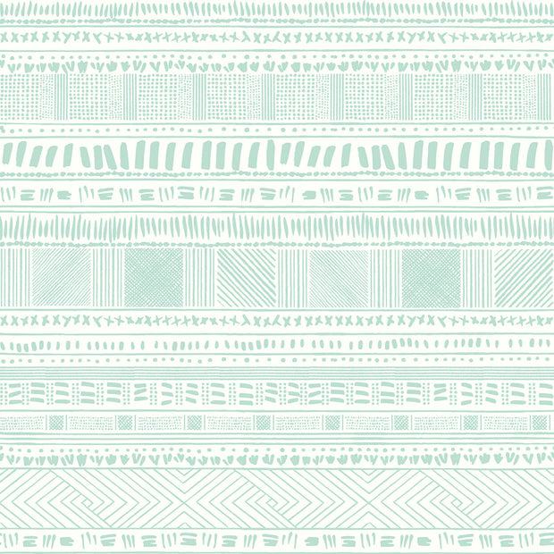 Tribal Print Wallpaper - Green