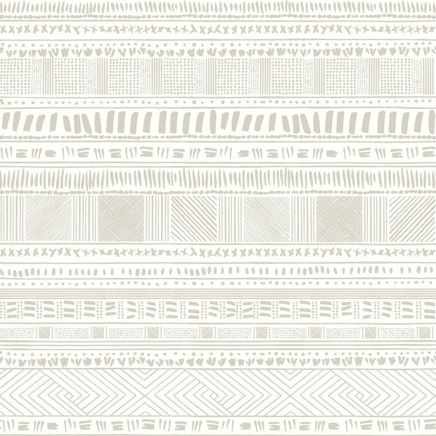 Tribal Print Wallpaper - Brown