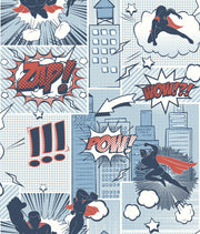 Comix Heros Wallpaper - Blue, Red